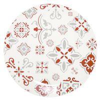 Plato-llano-26cm-ceramica-blanco-con-diseño-rojo