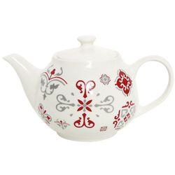 Tetera-13x8cm-ceramica-blanca-con-diseño-rojo