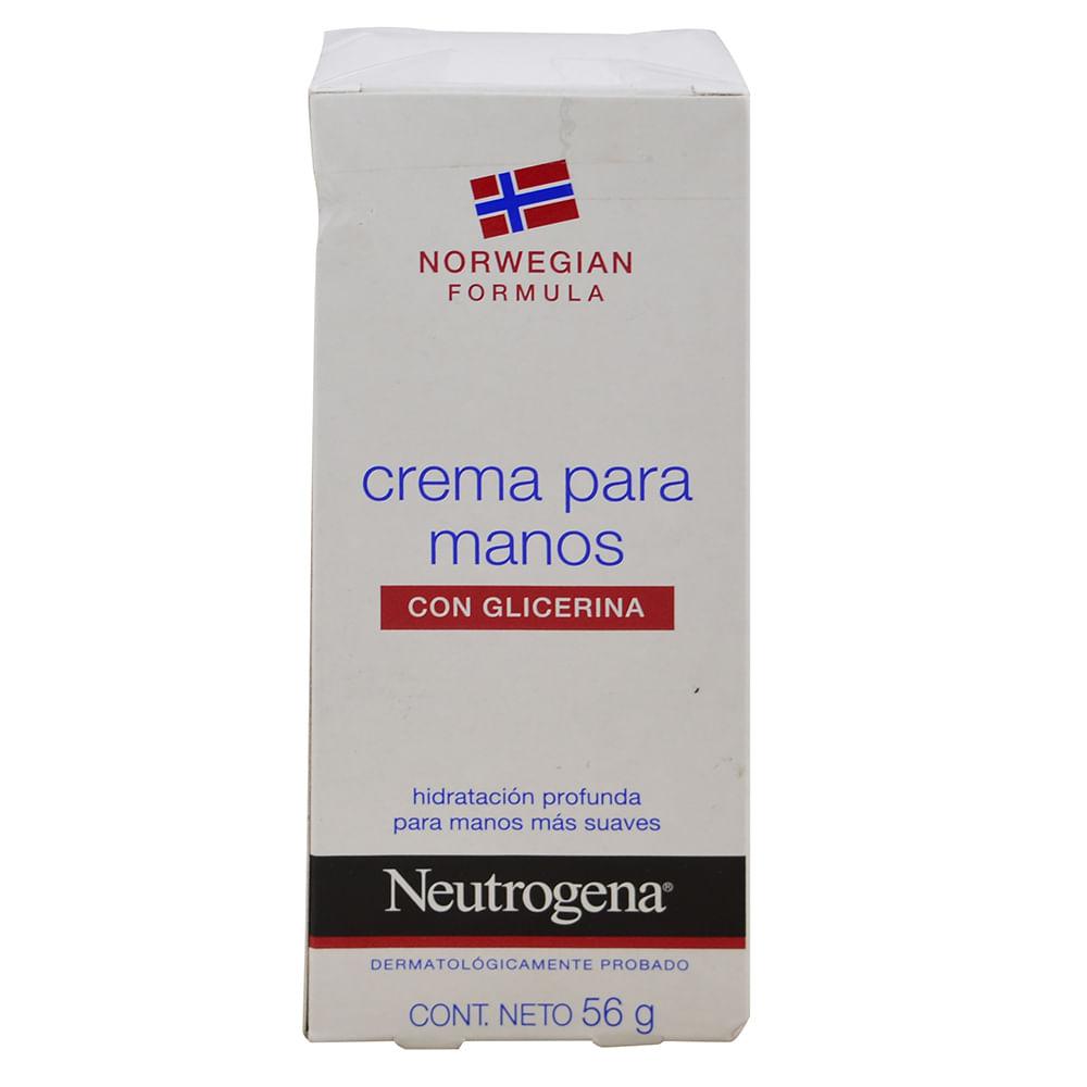 Crema neutrogena para manos