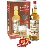 Whisky-Sir-Edward-s-scotch-1000-cc---vasos-de-obsequio