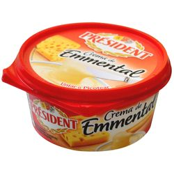 Queso-crema-emmental-President-125-g