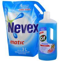 Pack-detergente-Nevex-3-L--Cif-pisos-lilas-750-ml