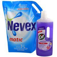 Pack-detergente-Nevex-3-L---Cif-pisos-lavanda-750-ml