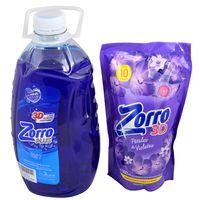 Pack-detergente-liquido-Zorro-3-L---suavizante-900ml-regalo