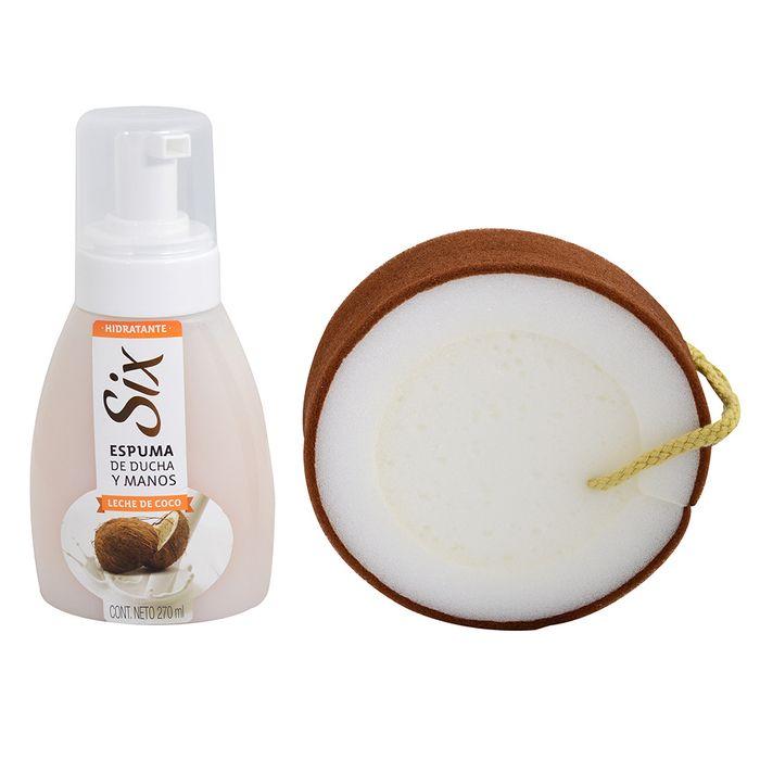 Pack-Six-leche-de-coco-espuma-270ml---esponja