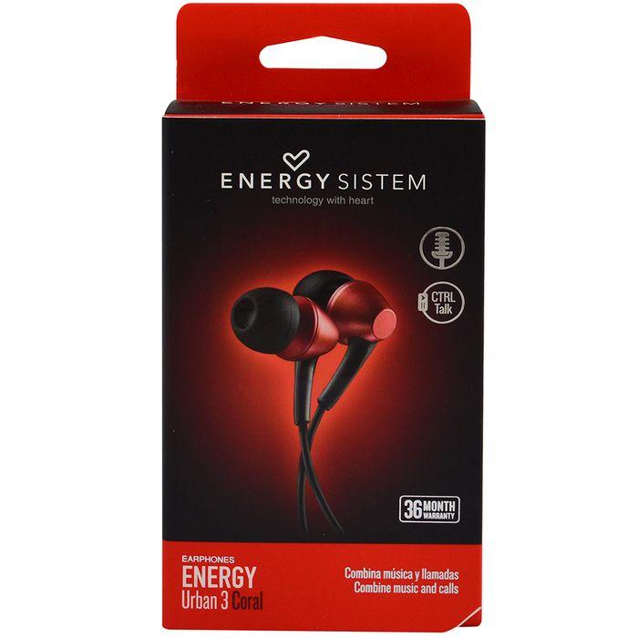 Auricular-Energy-sistem-urban-3-coral-con-microfono