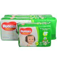 Pack-Huggies-active-sec-hiper---mini-XXG-85-un.