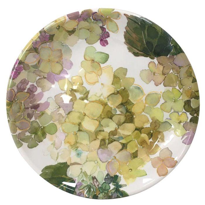 Plato-postre-melamina-hortensias