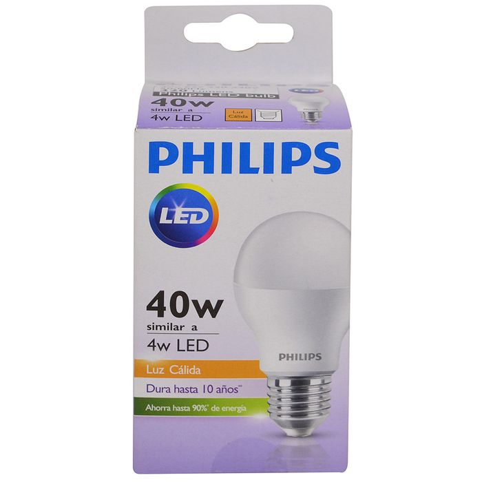 Lampara-PHILIPS-essensial-led-bulb-4w--E27-3000k
