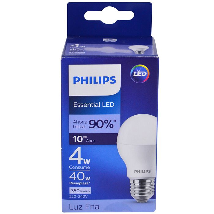 Lampara-PHILIPS-essensial-led-bulb-4w-E27-6500k