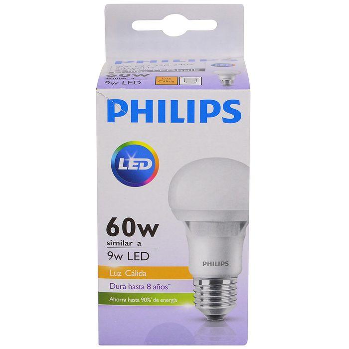 Lampara-PHILIPS-essensial-led-bulb-9w-E27-3000k