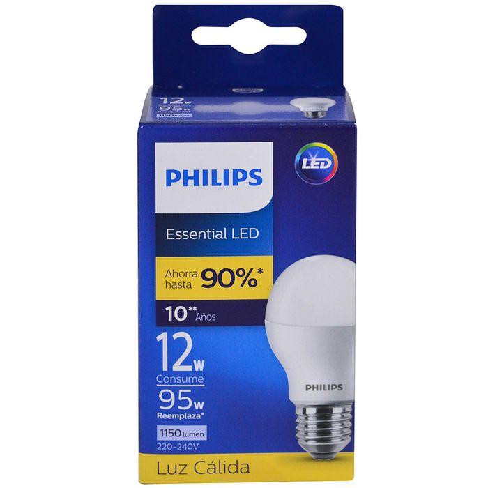 Lampara-PHILIPS-essensial-led-bulb-12w-E27-3000k