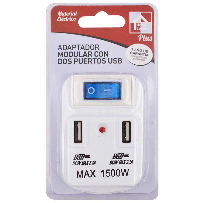 Adaptador-modular-mas-2-puertos-USB-con-llave
