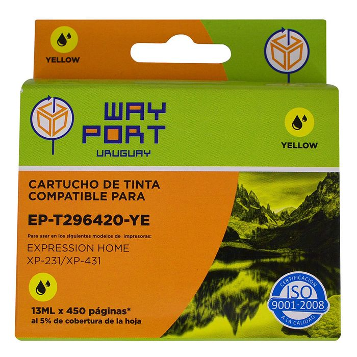 Cartucho-way-port-para-Epson-Mod.-XP231-t296420-13ml-ye-xl