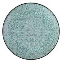Plato-llano-26cm-ceramica-decorado-turquesa