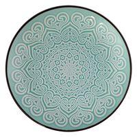 Plato-postre-197cm-ceramica-decorado-turquesa