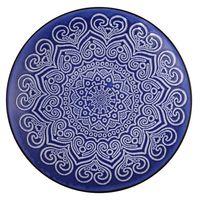 Plato-postre-197cm-ceramica-decorado-azul