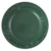 Plato-llano-27cm-ceramica-verde