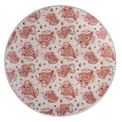 Plato-llano-267cm-ceramica-blanco-decorado-rojo