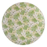 Plato-llano-263cm-ceramica-blanco-decorado-verde