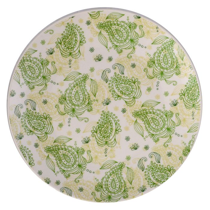 Plato-postre-19cm-ceramica-blanco-decorado-verde