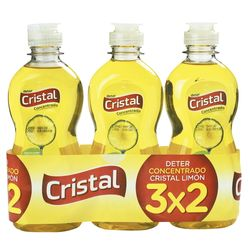 Pack-detergente-lavavajillas-Cristal-concentrado-limon-300-ml-3x2