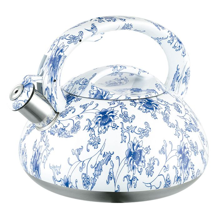 Caldera-2.5L-acero-inoxidable-decorada-flores-azules