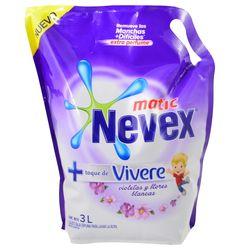 Detergente-liquido-Nevex-matic-toque-Vivere-3-L