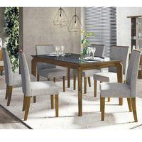 Juego-de-comedor-mesa-rectangular-170x90-6-sillas-tapizadas