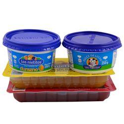 Pack-Los-Nietitos-dulce-de-membrillo-400-g---batata-400-g---dulce-leche-250-g---mermelada-de-durazno-250-g