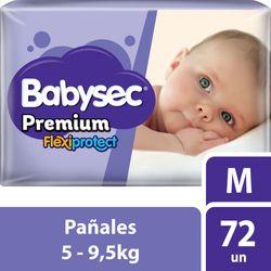 Pañal-Babysec-premium-M-72-un.
