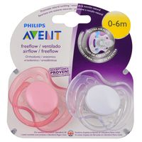 Set-x-2-chupetes-Avent-silicona-free-flow