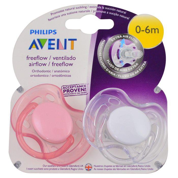 Set-x-2-chupetes-Avent-silicona-free-flow