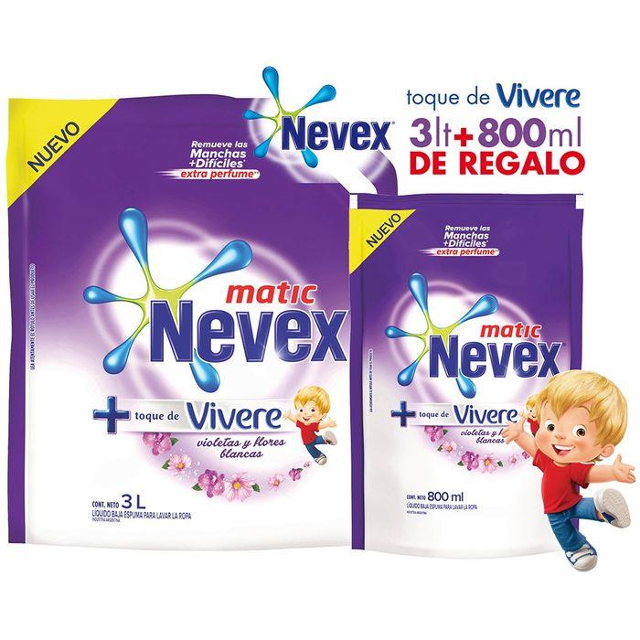 Pack-detergente-NEVEX-toque-vivere-3-L---800-ml-regalo