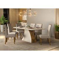 Juego-de-mesa-rectangular--6-sillas-tapizadas-demolicion