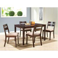 Juego-de-comedor-mesa-rectangular---4-sillas-tapizadas-120x75cm