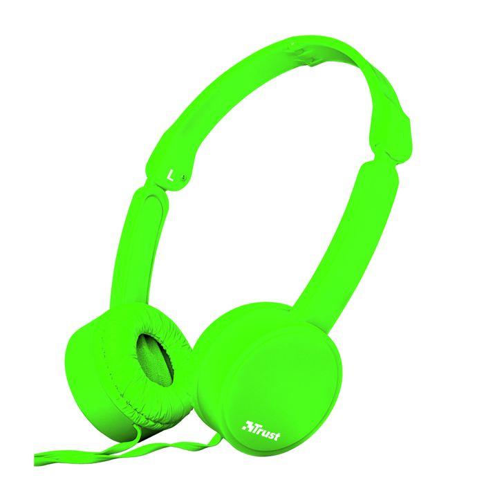 Auricular-TRUST-headphone-Mod.-Nano-Green