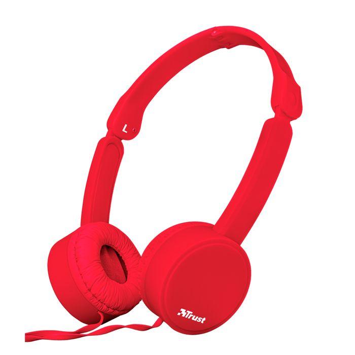Auricular-TRUST-headphone-Mod.-Nano-Red