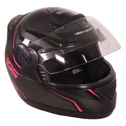 Casco-PROTORK-g6-negro-rosado-M