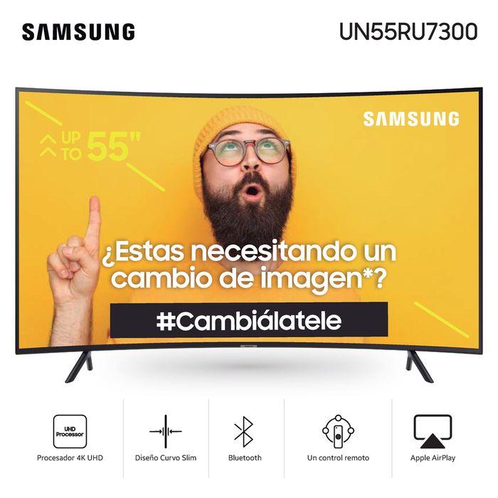 Tv-led-4K-UHD-smart-55--SAMSUNG-Mod.-un55ru7300-curvo