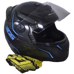 Casco-PROTORK-g6-negro-azul-M