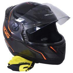 Casco-PROTORK-g6-negro-naranja-M