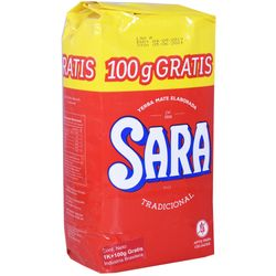 Yerba-SARA-tradicional-1-kg---100-g-de-regalo