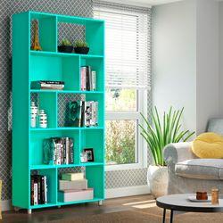 Biblioteca-verde-turquesa-91x189x30-cm