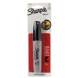 Marcador-permanente-SHARPIE-grueso-color-negro-punta-biselada-3-trazos-diferentes