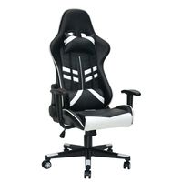 Silla-gamer-giratoria-regulable-blanco-negro
