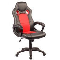 Silla-gamer-giratoria-regulable-negro-rojo