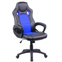Silla-gamer-giratoria-regulable-negro-azul