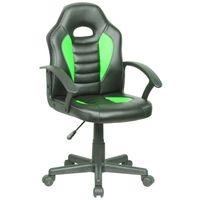 Silla-gamer-giratoria-regulable-negro-verde