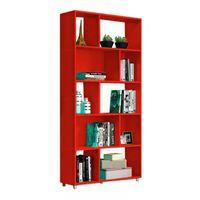 Biblioteca-en-roja-5-estantes-91x189x130-cm